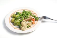 O prato vegetal imagens de stock