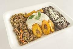 O prato venezuelano tradicional chamou o Criollo de Pabellon fotos de stock