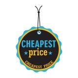 O preço o mais barato ilustração stock