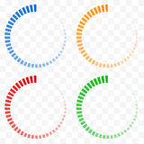 O Preloader, amortecedor dá forma a símbolos Círculos transparentes de desvanecimento ilustração do vetor
