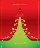 O presente creativo gosta de uma árvore de Natal Imagens de Stock