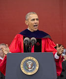 O presidente Barack Obama fala no 250th começo da universidade de Rutgers do aniversário Fotos de Stock