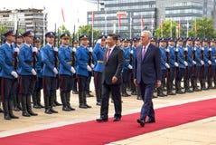 O presidente da República Popular da China e presidente da Sérvia Imagem de Stock Royalty Free