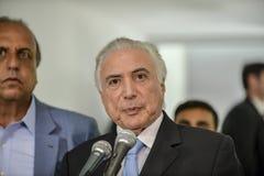 O presidente de Brasil Michel Temer fotos de stock royalty free
