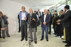 O presidente de Brasil Michel Temer fotografia de stock