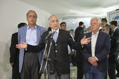 O presidente de Brasil Michel Temer imagem de stock