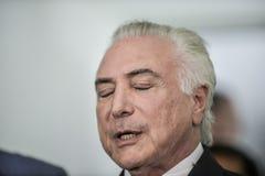 O presidente de Brasil Michel Temer fotos de stock