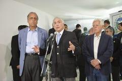 O presidente de Brasil Michel Temer imagens de stock