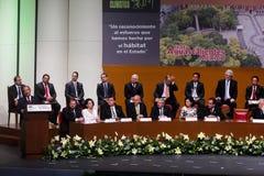 O presidente de México, Felipe Calderon imagem de stock