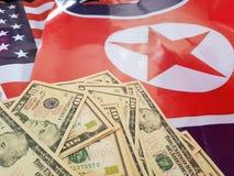 O presidente do Estados Unidos indicou em uma declaração de política que encontrará líderes norte-coreanos em Hanoi, Vietname fotografia de stock