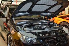 O preto coloriu o carro ajustado Fotografia de Stock Royalty Free