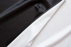 O preto e branco brilhante de seda bonito Imagem de Stock Royalty Free