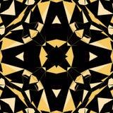 O preto e o triângulo geométrico do ouro modelam a textura sem emenda ilustração royalty free