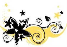 O preto floresce o fundo ilustração royalty free
