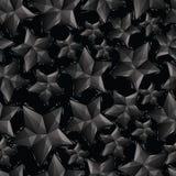 O preto stars o teste padrão sem emenda, repea geométrico do estilo contemporâneo Fotos de Stock Royalty Free