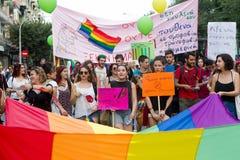 5o Pride Festival alegre em Tessalónica Fotografia de Stock