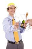 O primeiro brinde em 2009 Imagens de Stock
