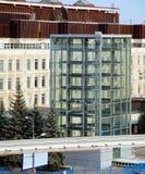 O primeiro em Moscou mecanizou o estacionamento, Ostankino Foto de Stock