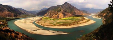 O primeiro golfo do rio de Changjiang fotos de stock royalty free