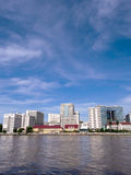O primeiro hospital em Tailândia sob o céu azul Foto de Stock Royalty Free