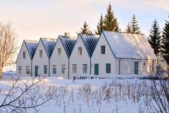 O primeiro ministro islandês residência do verão do ` s imagem de stock