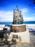 O primeiro monumento da frota ou o monumento bicentenário erigido em 1988, comemoram a chegada da primeira frota na baía da Botân fotos de stock royalty free
