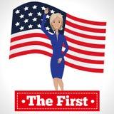 O primeiro presidente da mulher Imagens de Stock Royalty Free