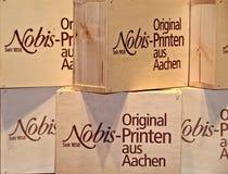 O Printen famoso de Aix-la-Chapelle, pão-de-espécie delicioso em uma loja imagens de stock royalty free