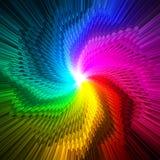 O prisma mágico abstrato da estrela colore o fundo ilustração do vetor