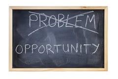 O problema é conceito do quadro-negro da oportunidade Fotos de Stock