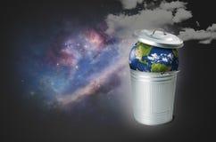 O problema da poluição do solo Imagens de Stock