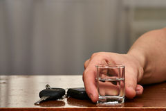 O problema social de condução bêbada Imagens de Stock Royalty Free