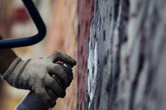 O processo de criar grafittis fotos de stock