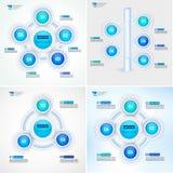 O processo do ciclo diagrams a coleção Molde do vetor de Infographic para relatórios, planos, apresentação, Web Foto de Stock Royalty Free