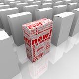 O produto novo e melhorado está para fora Fotografia de Stock