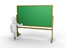 O professor dá a lição na escola Imagens de Stock Royalty Free