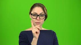O professor na classe escolhe quem responderá Tela verde filme