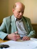 O professor prepara a leitura Imagem de Stock Royalty Free