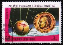 20o programa de investigação soviético do espaço, cerca de 1978 Fotografia de Stock
