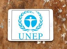 O programa do ambiente de United Nations, logotipo do PNUA fotos de stock