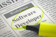 O programador de software junta-se a nossa equipe 3d Imagem de Stock Royalty Free