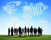 O progresso das ideias da faculdade criadora da inspiração da inovação inova Fotos de Stock