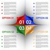 O progresso das opções da curvatura colorida encurrala o fundo Fotos de Stock Royalty Free