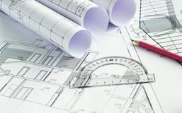 O projeto arquitetónico Fotografia de Stock
