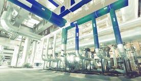 o projeto 3D da fábrica combinou à foto do po industrial moderno Imagens de Stock