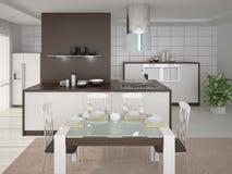 O projeto da cozinha moderna Ilustração Stock