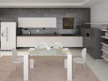 O projeto da cozinha moderna Ilustração do Vetor