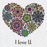 O projeto de cartão para o dia de Valentim ou abaixa Fotos de Stock