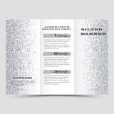 O projeto de prata da disposição do folheto do vetor, negócio três dobra o molde do inseto ilustração royalty free