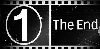 O filme do fim ilustração stock